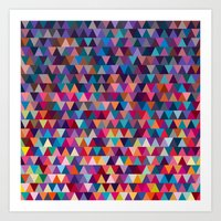 triangles Art Prints featuring Triangles by Ornaart