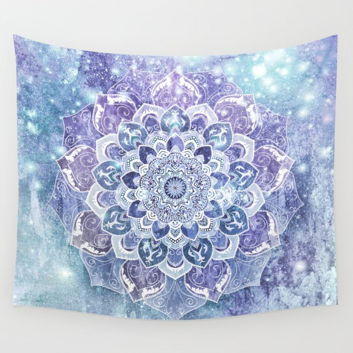 FREE YOUR MIND in Blue Wall Tapestry