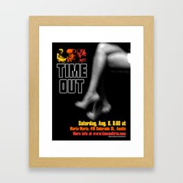 TIME OUT, MARIA MARIA (3) - AUSTIN, TX Framed Art Print