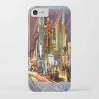 las vegas iPhone & iPod Cases featuring Vegas by Robin Curtiss