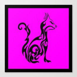 Cat pink Canvas Print