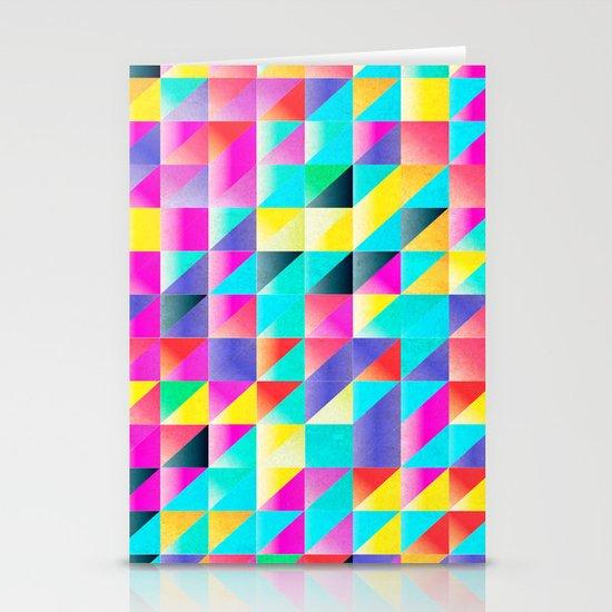Geometric Neon  Stationery Cards