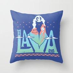 One Lava Throw Pillow