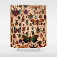 bugs Shower Curtains featuring Love Bugs by Angela Rizza