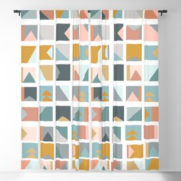 Mini Quilt Blocks Blackout Curtain