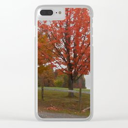 Fall Countryside Clear iPhone Case