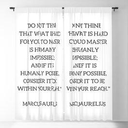 Stoic Philosophy Quote - Marcus Aurelius - MASTERY Blackout Curtain