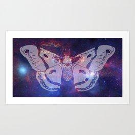 Space Moth (Commission) Art Print