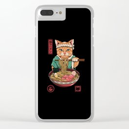 Neko Ramen Clear iPhone Case