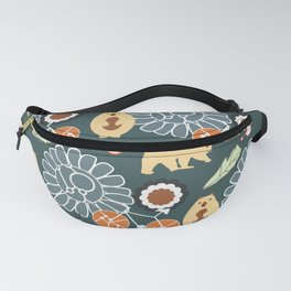 Bikes, bears and flowers Fanny Pack
