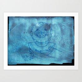 boy outside of the bubble Art Print