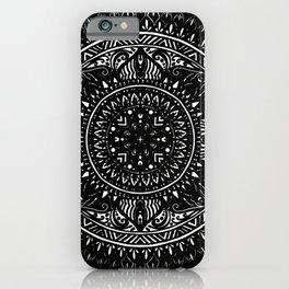 Black Circular Design iPhone Case