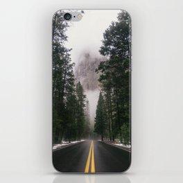 Yosemite Winter Road iPhone Skin