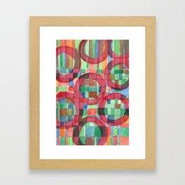 Red Magical Rings Framed Art Print