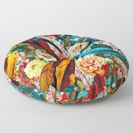 FLORAL AND BIRDS XV Floor Pillow
