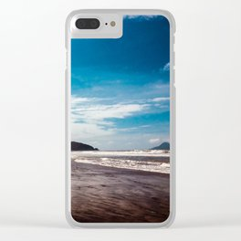 Bronze sand at Ohope Beach Clear iPhone Case