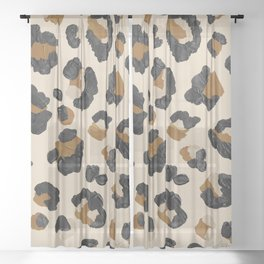 Leopard Print – Neutral Gold Light Palette Sheer Curtain
