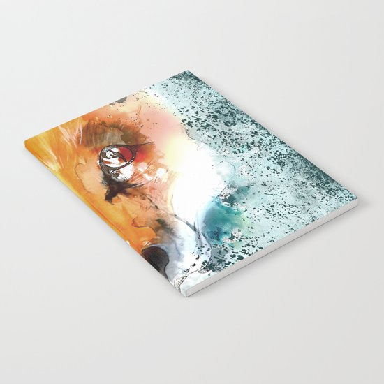 Wild wild Fox - Animal in the forest- watercolor illustration Notebook