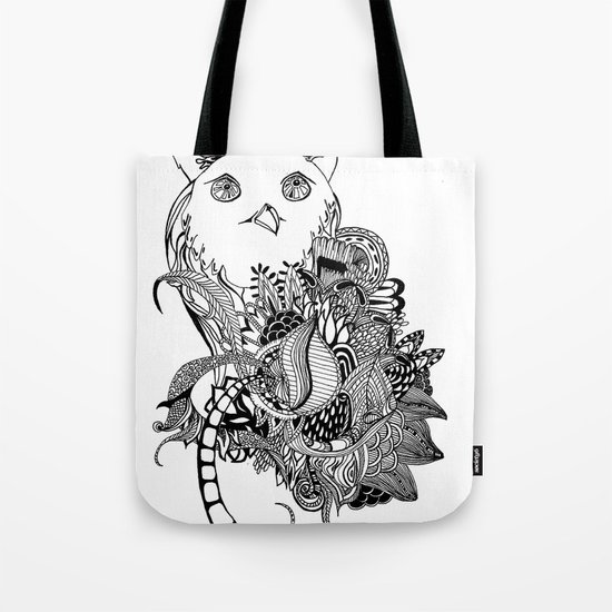 Inking Owl Tote Bag