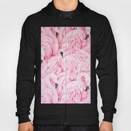 Elegant blush pink flamingo tropical bird pattern Hoody