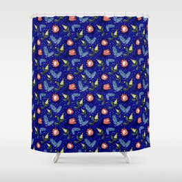 Australian Native Floral Pattern - Bright and Cute Shower Curtain