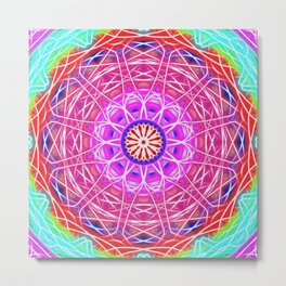 Magical geometric wonderful world Metal Print
