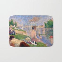 """Georges Seurat """"Final Study for Bathers at Asnières"""" Bath Mat"""