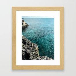 Cliffs of Negril Jamaica Framed Art Print