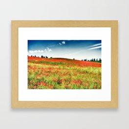 Poppy's field Framed Art Print