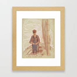 Fisherman, Isle of Shoals 1903 by Childe Hassam Framed Art Print