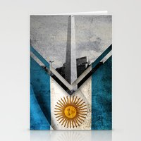 argentina Stationery Cards featuring Flags - Argentina by Ale Ibanez