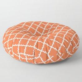 Moroccan Orange Ogee  Floor Pillow