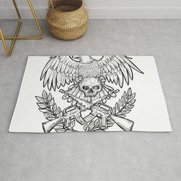 Eagle Skull Assault Rifle Drawing Rug