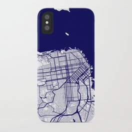 San Francisco City Map 02 iPhone Case