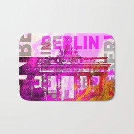 Berlin pop art typography illustration Bath Mat