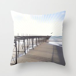 Victorian Pier - sunset graphic Throw Pillow