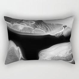 Jellyfish Photography   Wildlife Art   Nature   Black and White Photography Rectangular Pillow