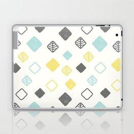 Aqua gray yellow abstract geometrical diamond pattern Laptop & iPad Skin