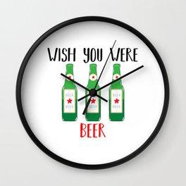 Wish you were BEER Wall Clock