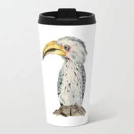 Yellow-Billed Hornbill Watercolor Painting Travel Mug