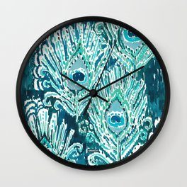 PEACOCKY - TEAL Wall Clock