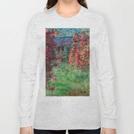 "Claude Monet ""House among the Roses"", 1925 Long Sleeve T-shirt"