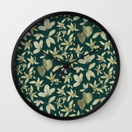 just a few leaves Wall Clock