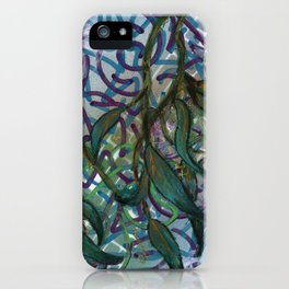 Static and Gum Leaves iPhone Case