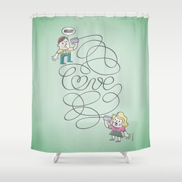 Long Distance Call Shower Curtain