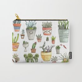 Potted Succulents Carry-All Pouch