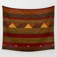 native american Wall Tapestries featuring native. by kelmeloo