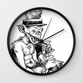 drinky monkey Wall Clock