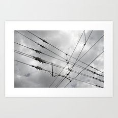Above the train. Art Print