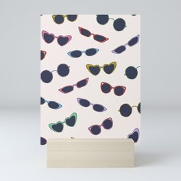 Retro sunglasses print Mini Art Print